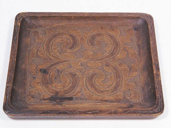 Nibutani carved wooden tray - History