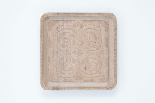 Nibutani carved wooden tray