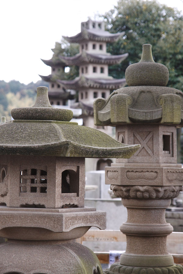 Izumo stone lanterns - General Production Process