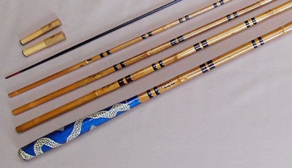 Edo bamboo fishing rods
