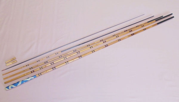 Kishu bamboo fishing rods